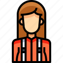 avatar, female, lumberjack, people, person, user, woman