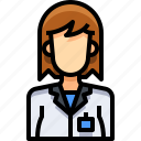 avatar, female, people, person, reporter, user, woman icon