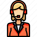 avatar, female, people, person, telemarketer, user, woman icon