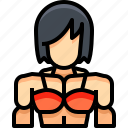 avatar, bodybuilding, female, people, person, user, woman icon
