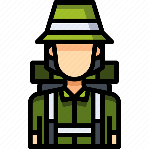 Avatar, backpacker, female, people, person, user, woman icon - Download on Iconfinder