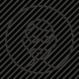 avatar, glasses, male, man, person, user icon