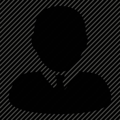 businessman, man, person, profile, user icon
