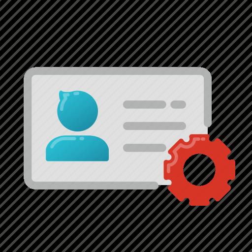 analysis, business, data, id card, identity, profile, user icon