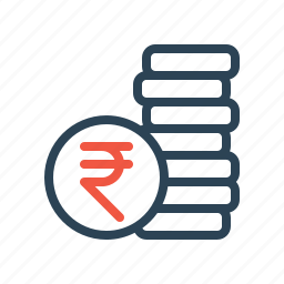 cash, coin, currency, finance, money, stack icon