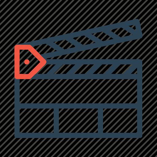 clipboard, clipper, film, movie, multimedia icon