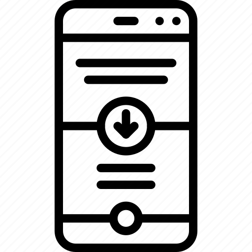 applications, devices, iphone, phone, scroll, user experience, ux icon