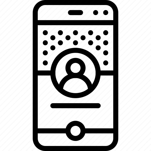 devices, iphone, page, phone, profile, user experience, ux icon