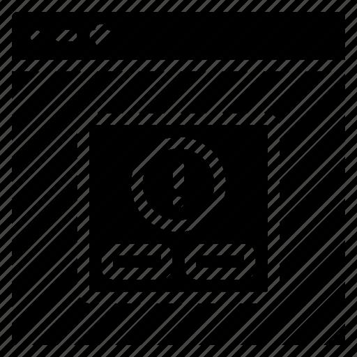 alert, experience, user, ux, warning, window icon
