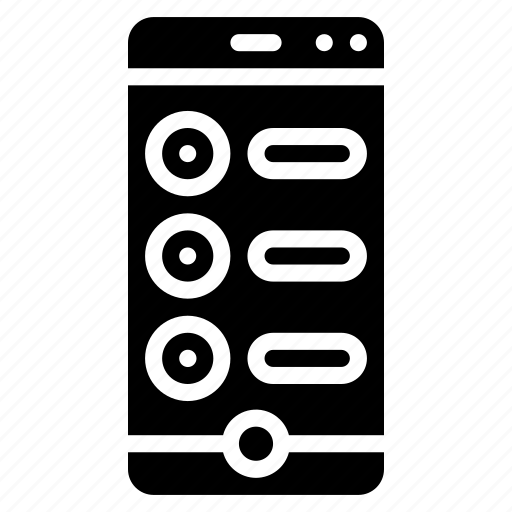 checklist, experience, list, phone, user, ux, window icon