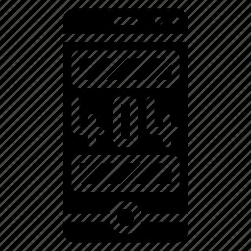 error, experience, phone, user, ux, warning icon