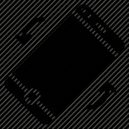 experience, flip, phone, tilt, user, ux icon