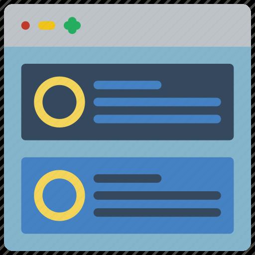 blog, experience, user, ux, website, window icon