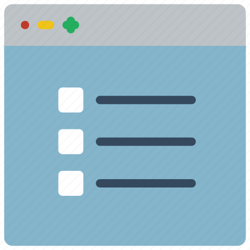 checklist, experience, list, user, ux, window icon