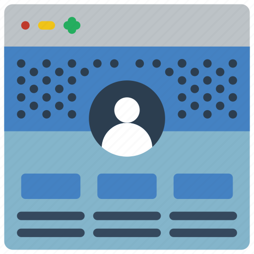 experience, page, profile, user, ux, window icon