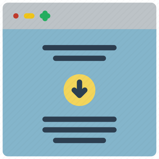 experience, scroll, user, ux, website, window icon