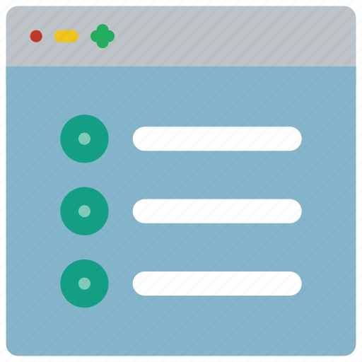 checklist, experience, user, ux, window icon
