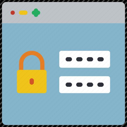 experience, login, secure, user, ux, website, window icon