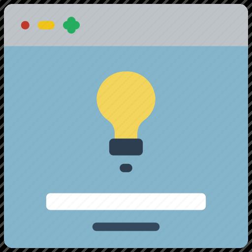 experience, idea, user, ux, website, window icon