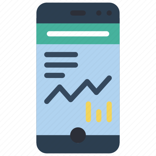 chart, experience, graph, phone, user, ux, window icon