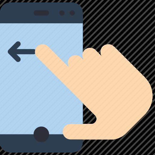 experience, finger, phone, swipe, user, ux icon