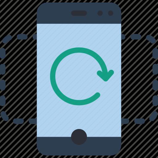 experience, phone, undo, user, ux icon