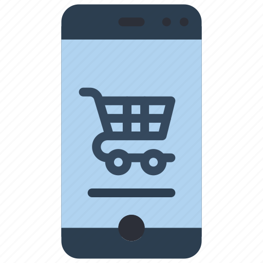 experience, phone, shopping, trolley, user, ux, window icon