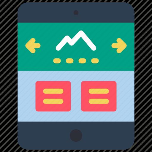 experience, ipad, slideshow, user, ux, window icon