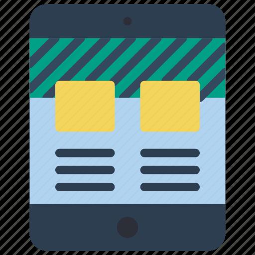 columns, experience, ipad, user, ux, window icon