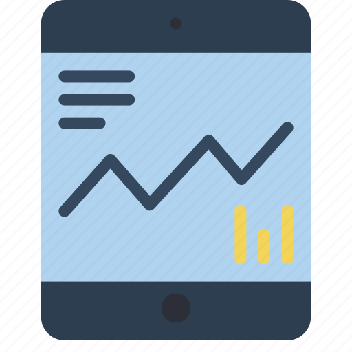 chart, experience, graph, ipad, results, user, ux icon