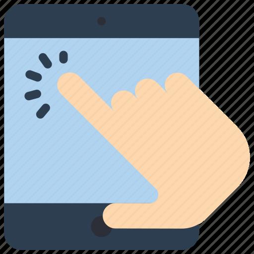 experience, hand, ipad, tap, user, ux, window icon