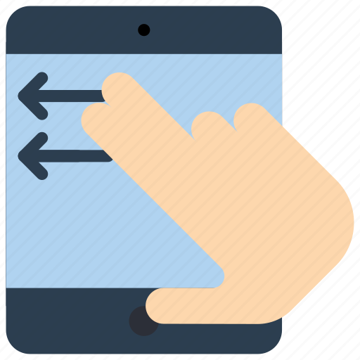 experience, hand, ipad, swipe, user, ux icon