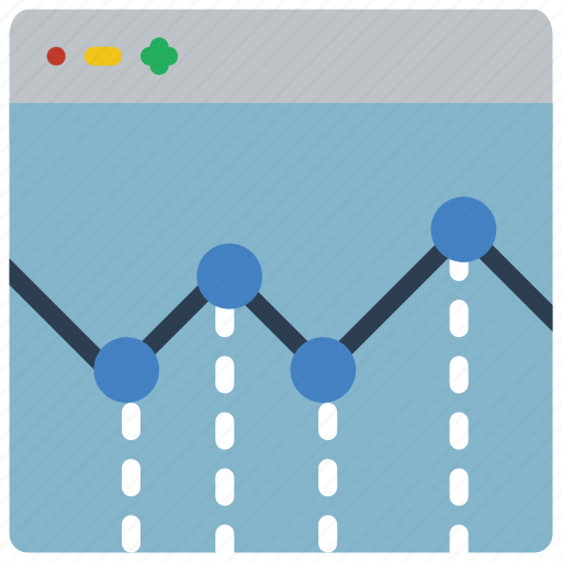 chart, experience, graph, user, ux, website, window icon