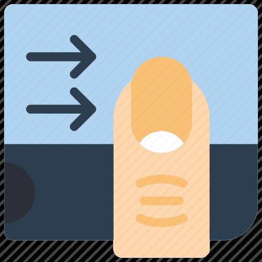 experience, finger, swipe, user, ux icon
