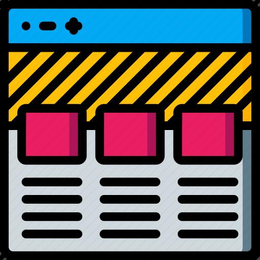 columns, experience, user, ux, website, window icon