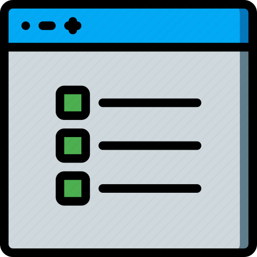 checklist, experience, user, ux, website, window icon