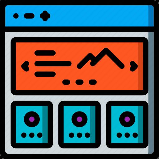 experience, slideshow, user, ux, website, window icon