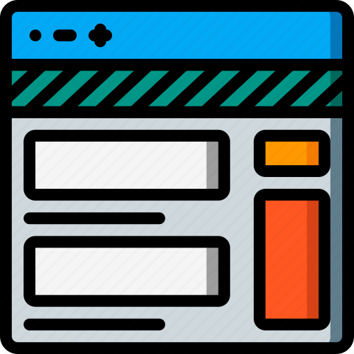 experience, page, profile, user, ux, website, window icon