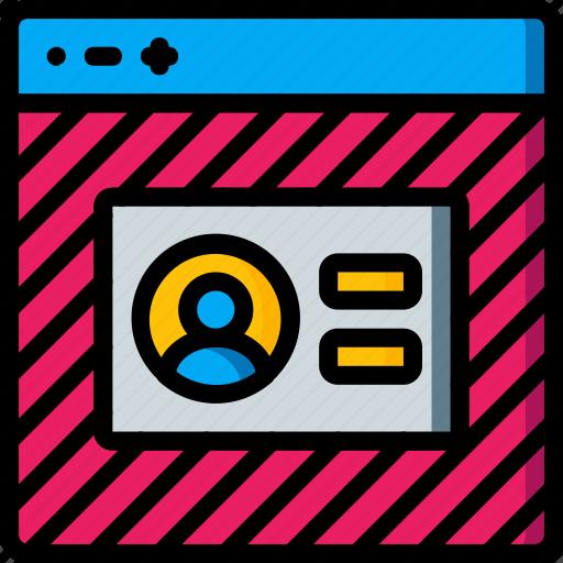 experience, login, user, ux, website, window icon