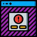 alert, experience, user, ux, warning, website, window icon