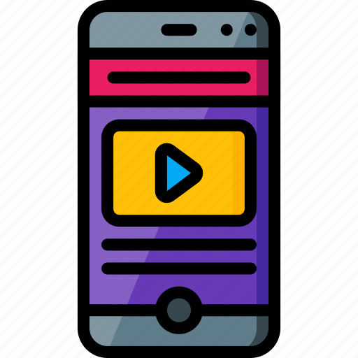experience, phone, play, user, ux, video icon