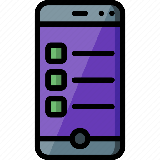 experience, list, phone, user, ux icon