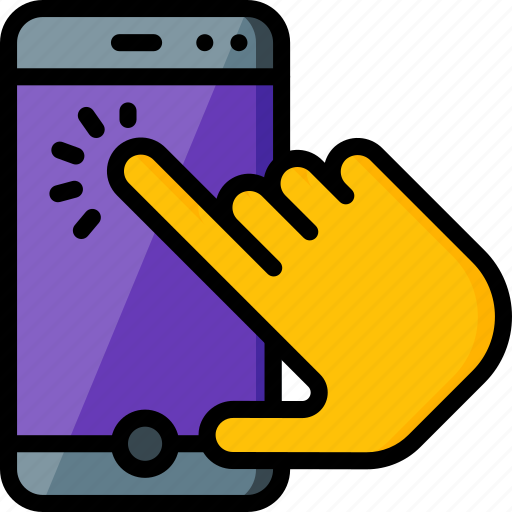 experience, hand, phone, tap, user, ux, window icon