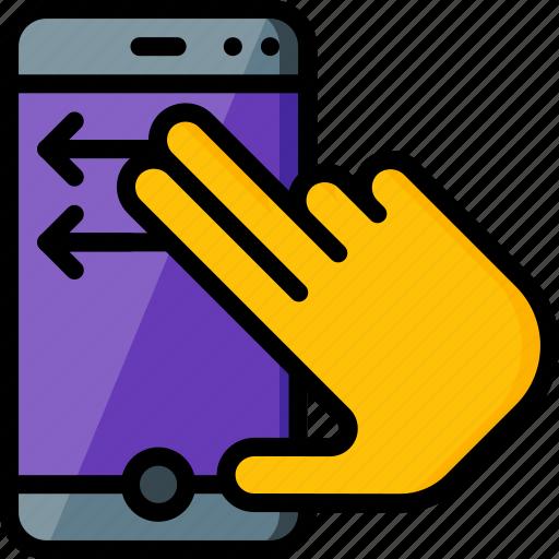 experience, hand, phone, swipe, user, ux icon