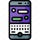 communication, experience, messages, phone, user, ux, window icon