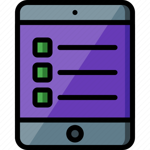 experience, ipad, list, user, ux, website, window icon