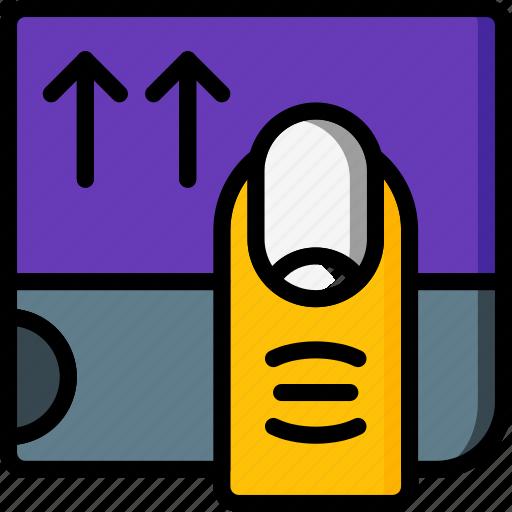 experience, finger, ipad, scroll, user, ux, window icon