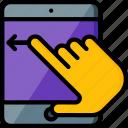 experience, hand, ipad, swipe, user, ux, window icon