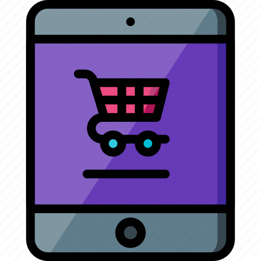 experience, ipad, shopping, trolley, user, ux, website icon