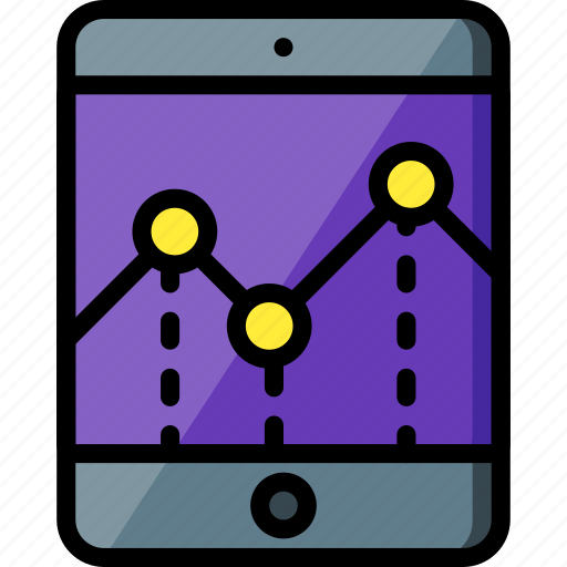 experience, graph, ipad, user, ux icon